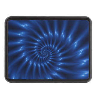 Electric Blue Spiral Fractal Hitch Cover