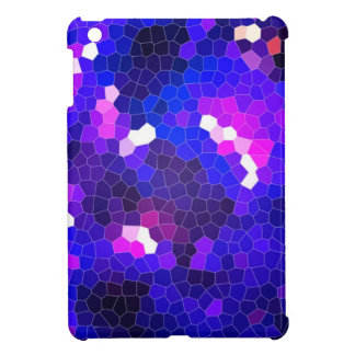 Electric blue stained glass cover for the iPad mini