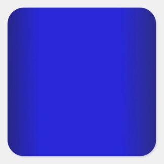 Electric Blue Square Sticker