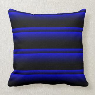 Electric Blue Stripes Cushion