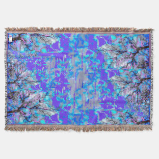 Electric Blue Throw Blanket