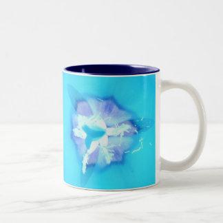 Electric Blue Tulip Two-Tone Mug