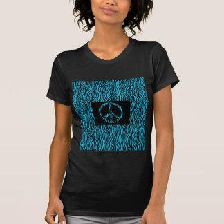 electric blue zebra print T-Shirt