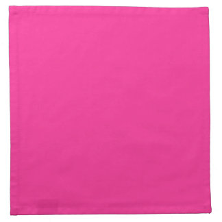 Electric Bubblegum Pink Personalized Trend Color Printed Napkin