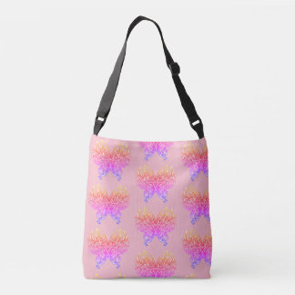 Electric Butterfly Pink Blue Orange Insect Bag