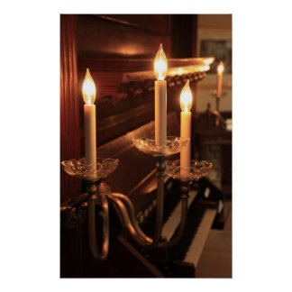 Electric Candles and Piano Poster