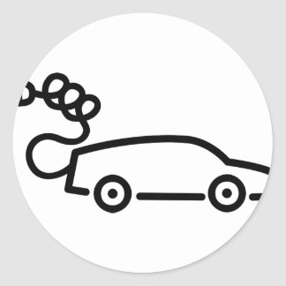 Electric Car Classic Round Sticker
