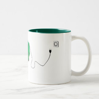 Electric car Two-Tone coffee mug