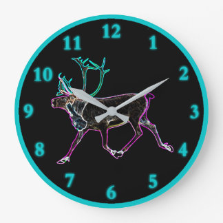Electric Caribou Large Clock