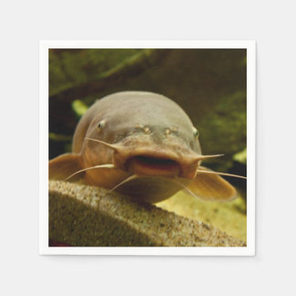 Electric catfish paper napkin