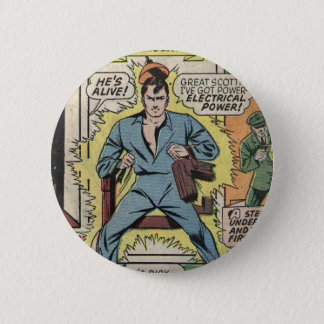 Electric Chair 6 Cm Round Badge