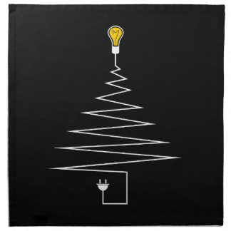 Electric Christmas tree Napkin