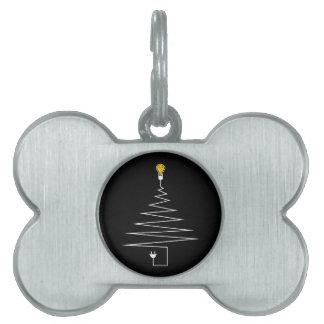 Electric Christmas tree Pet ID Tag