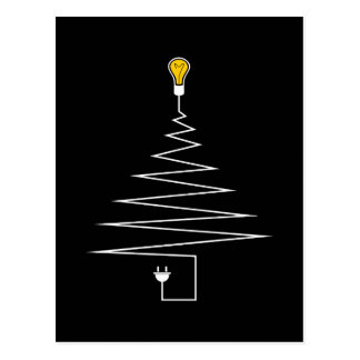 Electric Christmas tree Postcard