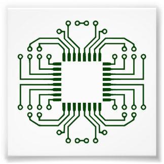 Electric Circuit Board Processor Art Photo