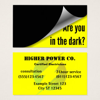 Electric Company - Electrician - Bolt Business Card
