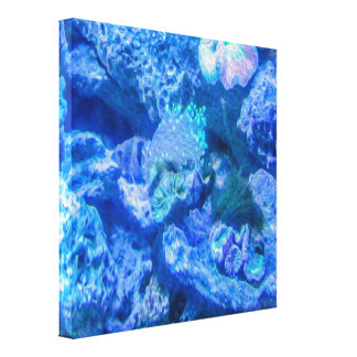 Electric Coral Canvas Print