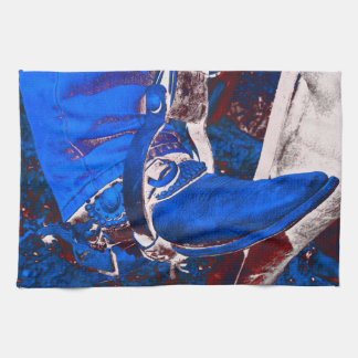 Electric Cowboy Boot Kitchen Towel Retro Art