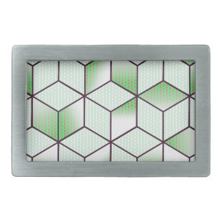 Electric Cubic Knited Effect Design Belt Buckles