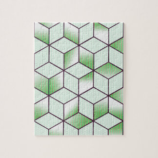 Electric Cubic Knited Effect Design Jigsaw Puzzle