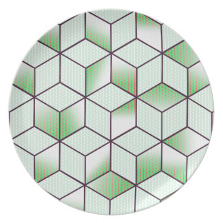 Electric Cubic Knited Effect Design Plate
