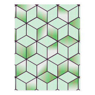Electric Cubic Knited Effect Design Postcard