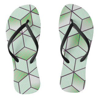 Electric Cubic Knited Effect Design Thongs