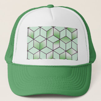 Electric Cubic Knited Effect Design Trucker Hat