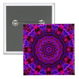 Electric Current kaleidoscope Pinback Buttons