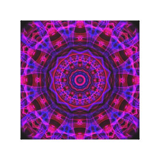 Electric Current kaleidoscope Stretched Canvas Prints