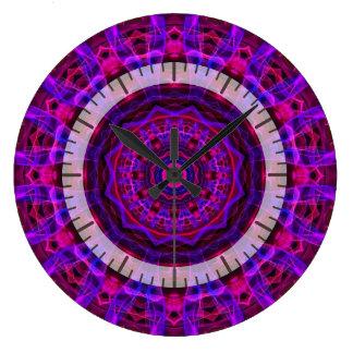 Electric Current kaleidoscope Wallclocks