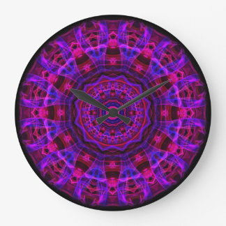 Electric Current kaleidoscope Round Clocks