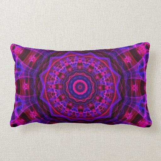 Electric Current kaleidoscope Throw Pillow