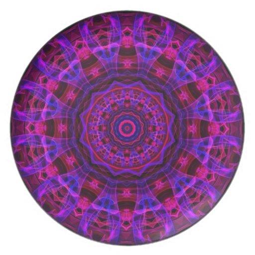 Electric Current kaleidoscope Plates