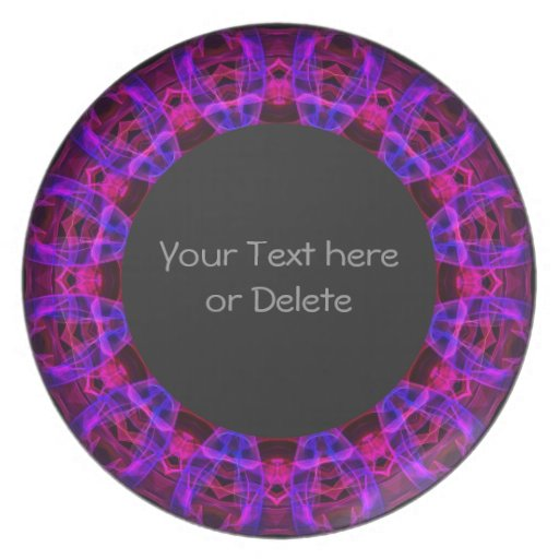 Electric Current kaleidoscope Dinner Plates