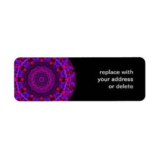 Electric Current kaleidoscope Return Address Label