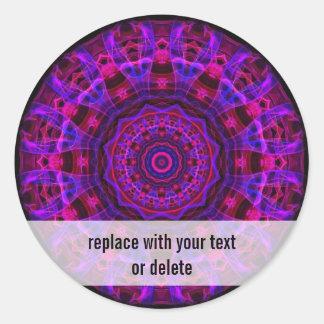 Electric Current kaleidoscope Round Sticker
