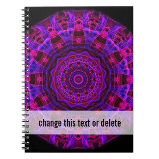 Electric Current kaleidoscope Spiral Notebook
