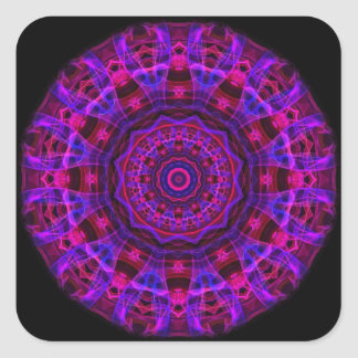 Electric Current kaleidoscope Square Sticker