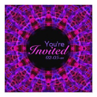 Electric Current Mandala 13 Cm X 13 Cm Square Invitation Card