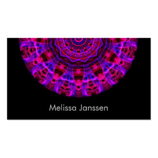 Electric Current -Mandala- Business Card Templates