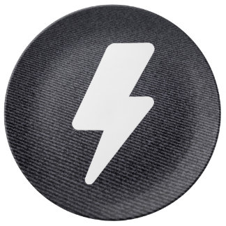 Electric Currents Icon Porcelain Plate
