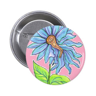 Electric Daisy 2 Inch Round Button