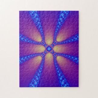 Electric Daisy Chain Fractal Art Jigsaw Puzzle
