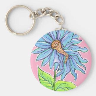 Electric Daisy Basic Round Button Keychain