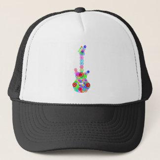 Electric digital Guitar circle design Music Trucker Hat