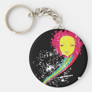 electric diva dreams basic round button key ring