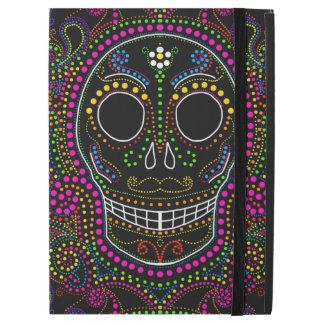 Electric dot sugar skull iPad Pro cover