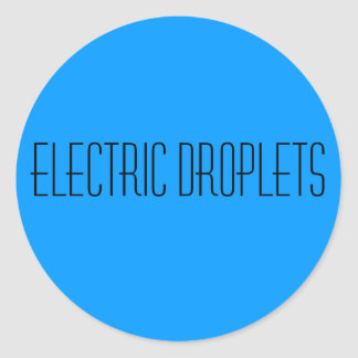 Electric Droplets Round Sticker