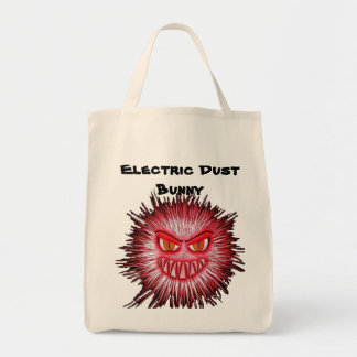 Electric Dust Bunny The Coal Blacks Part 2 Grocery Tote Bag